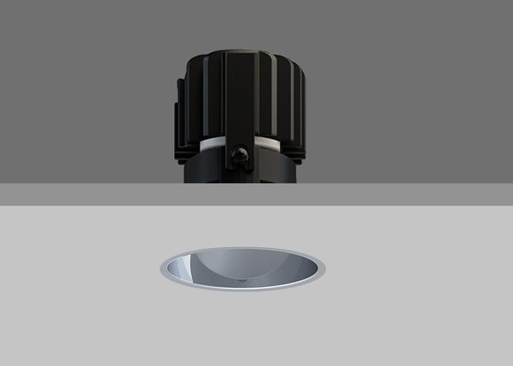 Minitrim 62 Wallwasher Spectro Silver